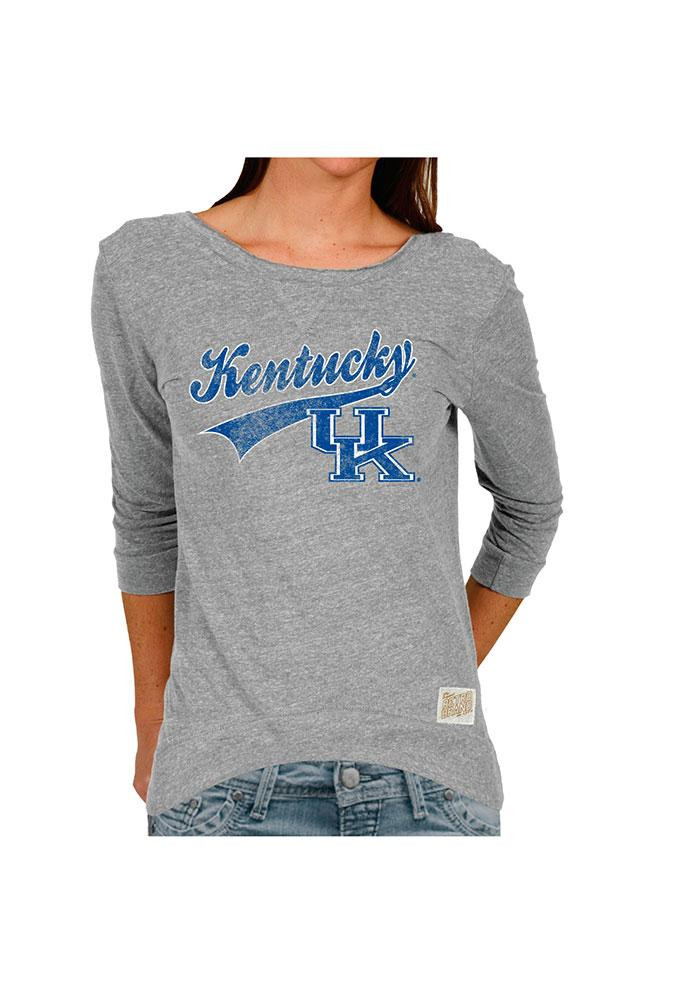 Original Retro Brand Kentucky Juniors Grey Retro Long Sleeve Scoop Neck - Image 1