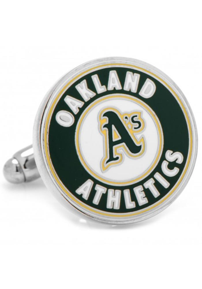 Oakland Athletics Silver Plated Mens Cufflinks - Image 2