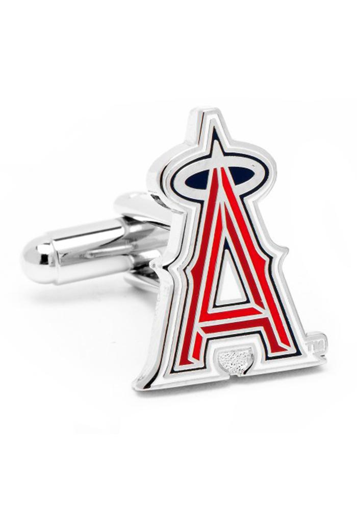 Los Angeles Angels Silver Plated Mens Cufflinks - Image 1