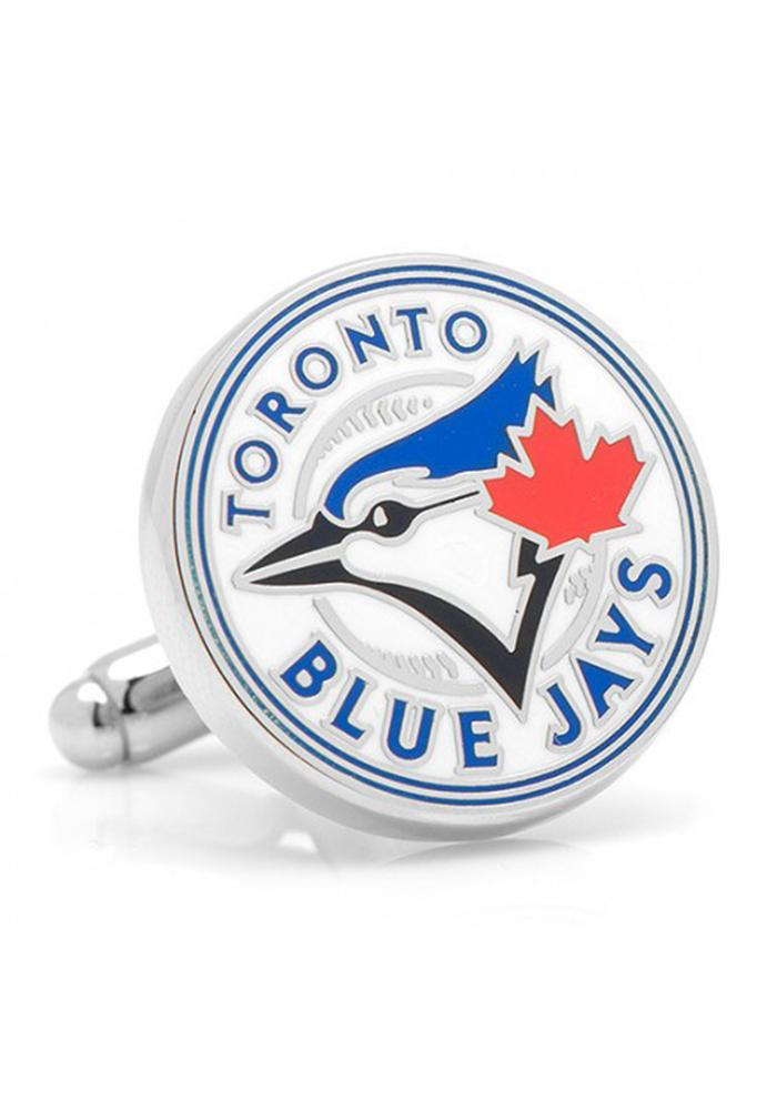 Toronto Blue Jays Silver Plated Mens Cufflinks - Image 1