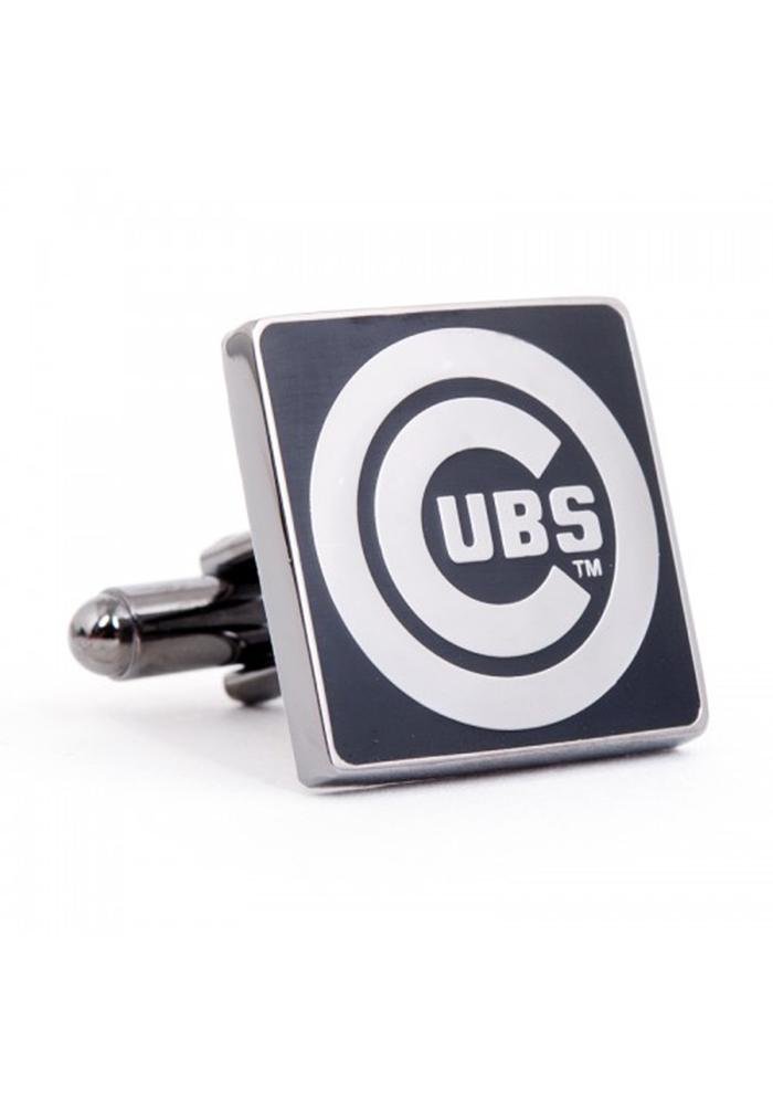Chicago Cubs Silver Plated Mens Cufflinks - Image 2