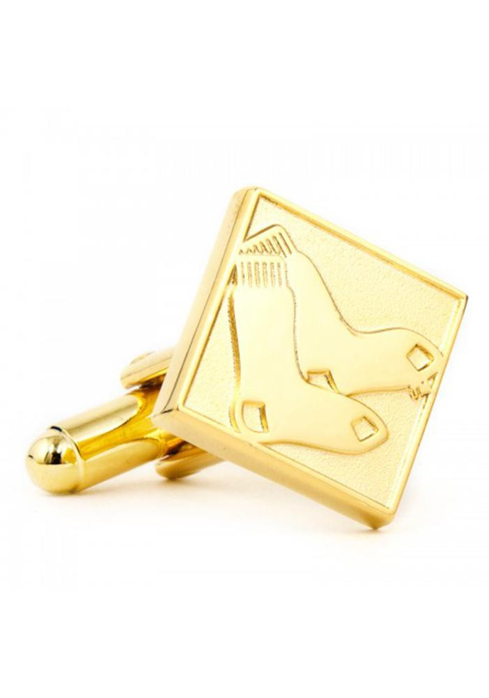 Boston Red Sox Gold Plated Mens Cufflinks - Image 2