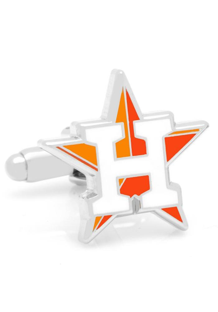 Houston Astros Silver Plated Mens Cufflinks - Image 2