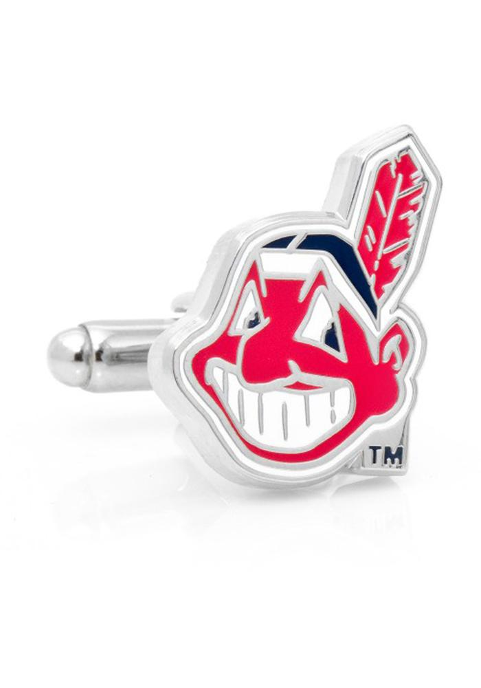 Cleveland Indians Silver Plated Mens Cufflinks - Image 2