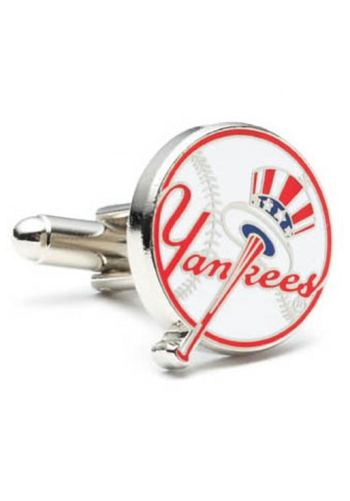 New York Yankees Silver Plated Mens Cufflinks - Image 1