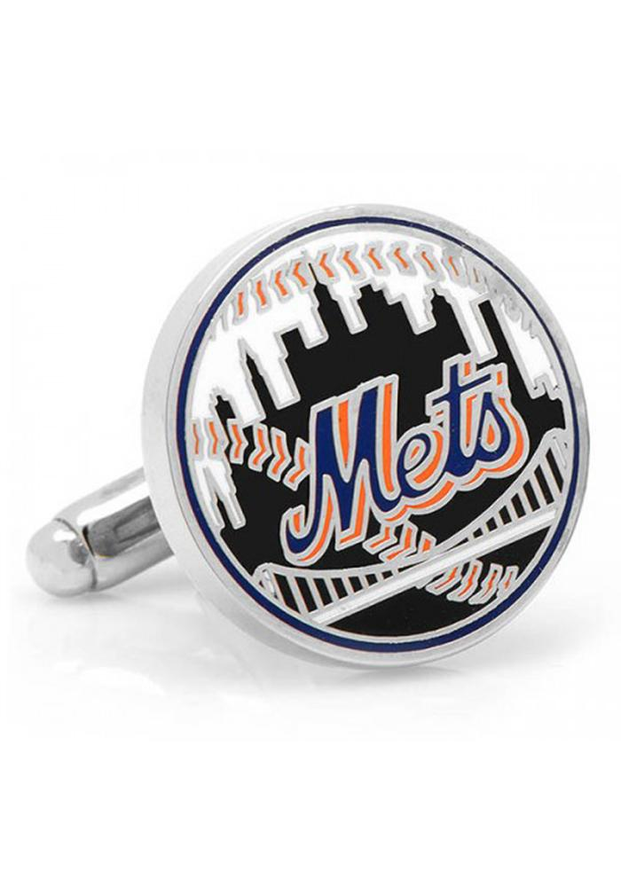 New York Mets Silver Plated Mens Cufflinks - Image 1