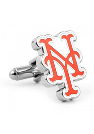 New York Mets Silver Plated Cufflinks - Silver