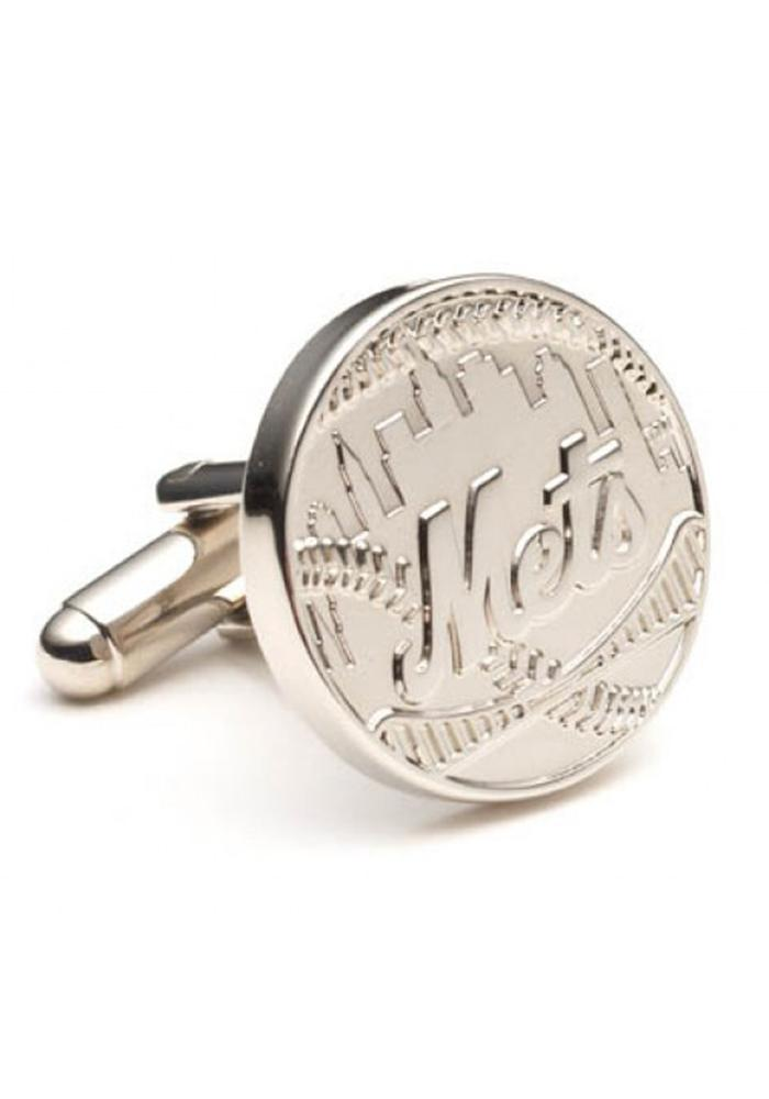 New York Mets Silver Plated Mens Cufflinks - Image 2