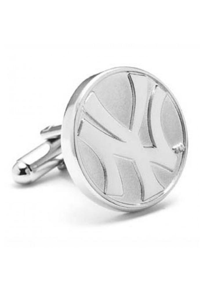 New York Yankees Silver Plated Mens Cufflinks - Image 2