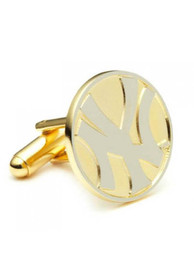 New York Yankees Two Toned Plated Cufflinks - Silver