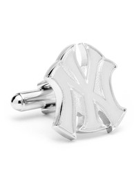 New York Yankees Silver Plated Cufflinks - Silver