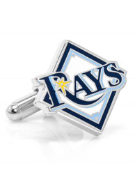 Tampa Bay Rays Silver Plated Cufflinks - Silver