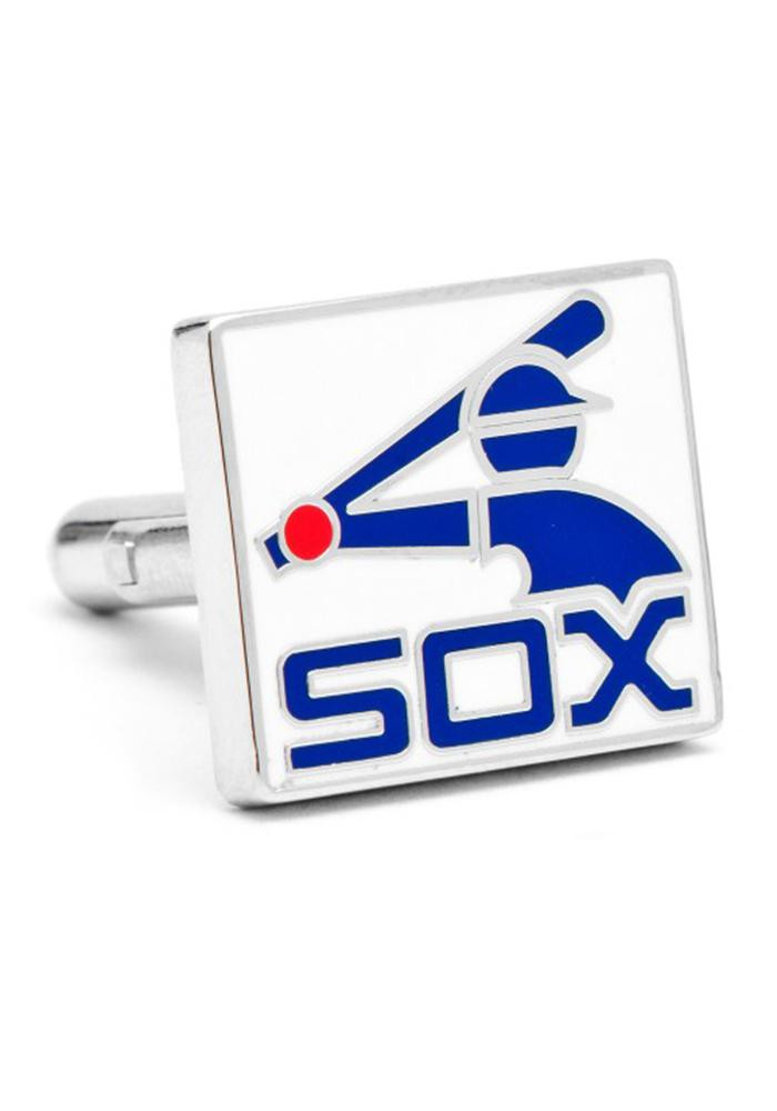 Chicago White Sox Silver Plated Mens Cufflinks - Image 2