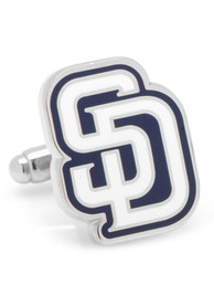 San Diego Padres Silver Plated Cufflinks - Silver