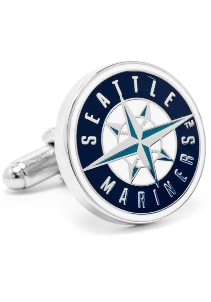 Seattle Mariners Silver Plated Mens Cufflinks - Image 2