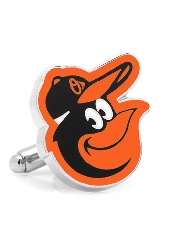 Baltimore Orioles Silver Plated Mens Cufflinks - Image 1
