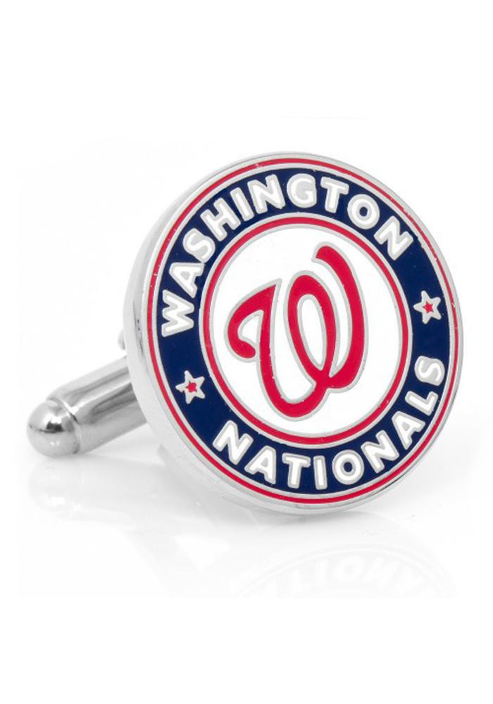 Washington Nationals Silver Plated Mens Cufflinks - Image 2