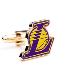 Los Angeles Lakers Silver Plated Cufflinks - Silver