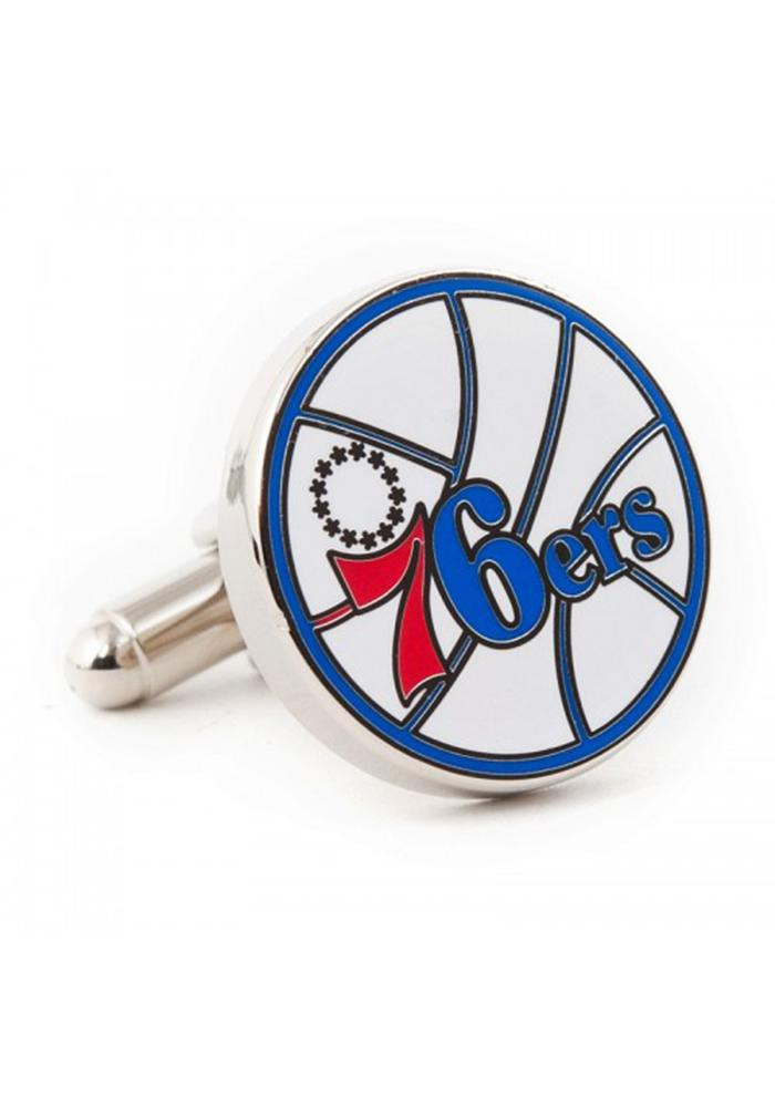 Philadelphia 76ers Silver Plated Mens Cufflinks - Image 2