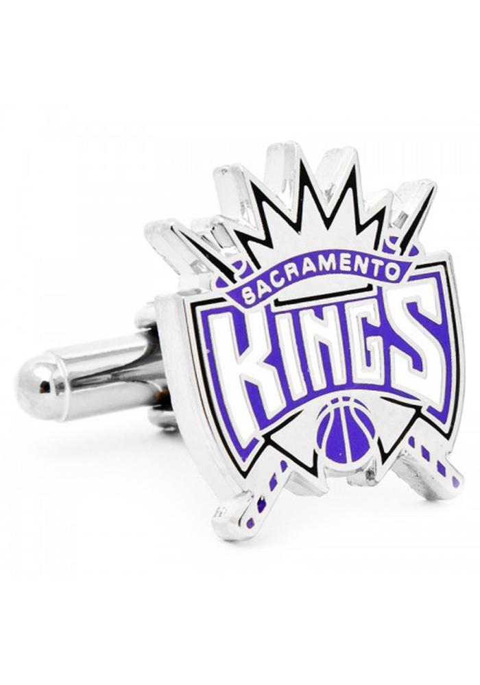Sacramento Kings Silver Plated Mens Cufflinks - Image 2