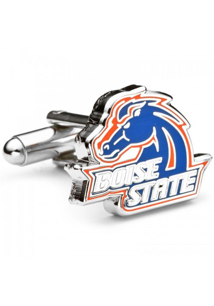 Boise State Broncos Silver Plated Cufflinks - Silver