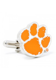 Clemson Tigers Silver Plated Cufflinks - Silver