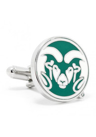 Colorado State Rams Silver Plated Cufflinks - Silver