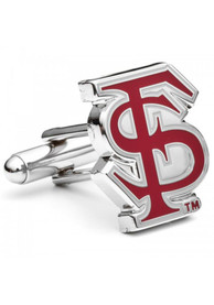 Florida State Seminoles Silver Plated Cufflinks - Silver