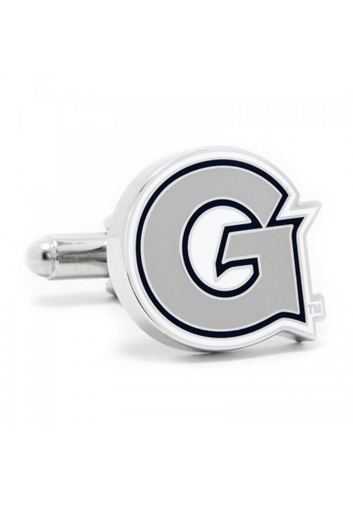 Georgetown Hoyas Silver Plated Mens Cufflinks - Image 2