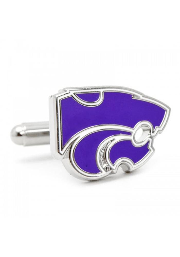 K-State Wildcats Silver Plated Mens Cufflinks - Image 2