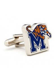 Memphis Tigers Silver Plated Cufflinks - Silver