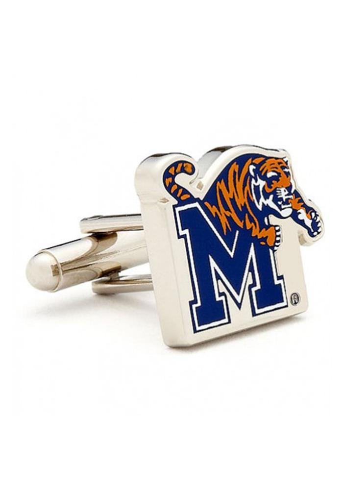 Memphis Tigers Silver Plated Mens Cufflinks - Image 2