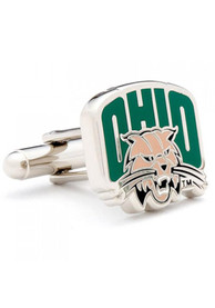 Ohio Bobcats Silver Plated Cufflinks - Silver