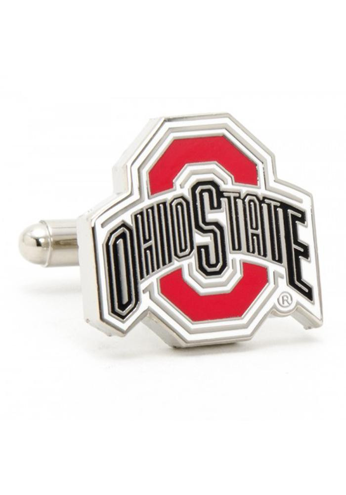 Ohio State Buckeyes Silver Plated Mens Cufflinks - Image 2