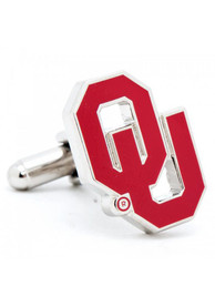 Oklahoma Sooners Silver Plated Cufflinks - Silver