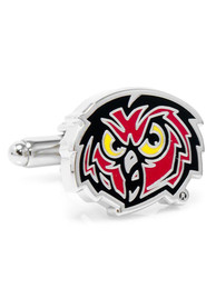 Temple Owls Silver Plated Cufflinks - Silver