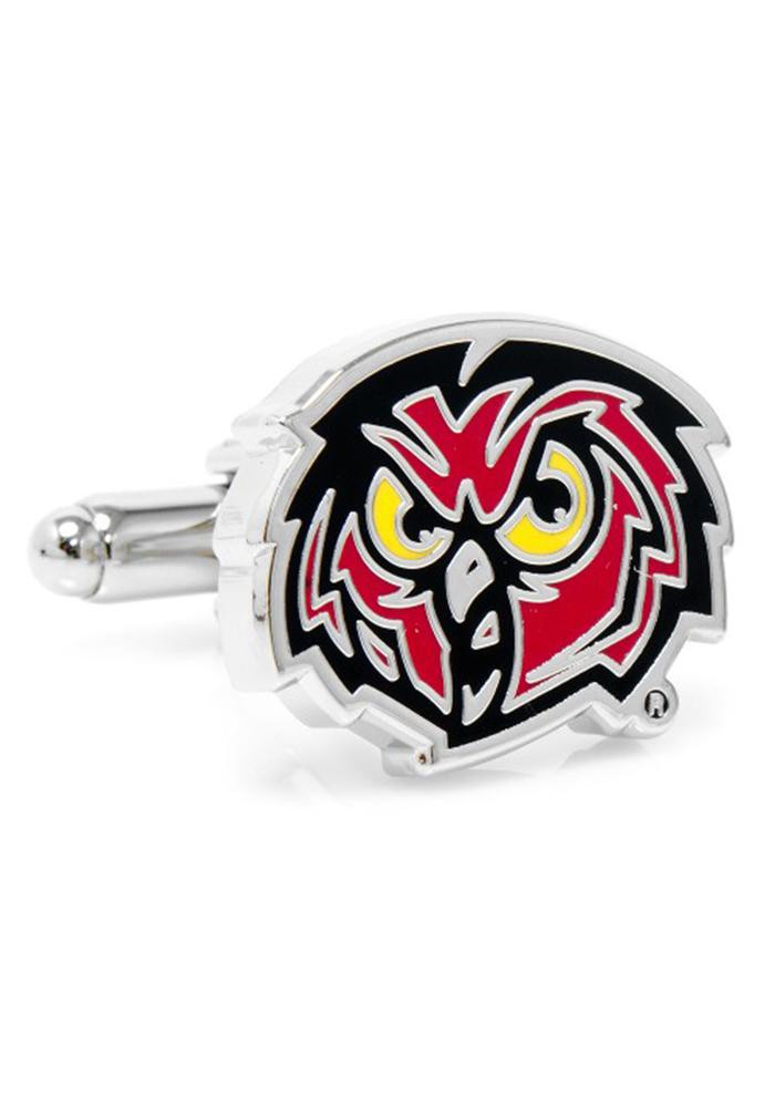 Temple Owls Silver Plated Mens Cufflinks - Image 2