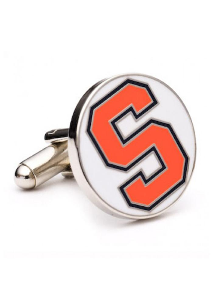 Syracuse Orange Silver Plated Mens Cufflinks - Image 2