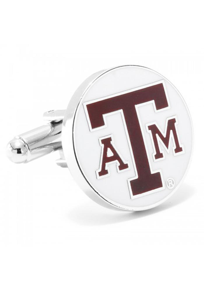Texas A&M Aggies Silver Plated Mens Cufflinks - Image 2