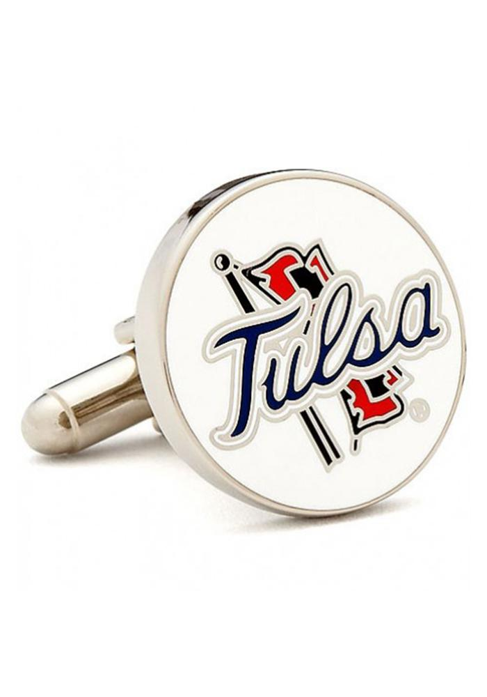 Tulsa Golden Hurricanes Silver Plated Mens Cufflinks - Image 2