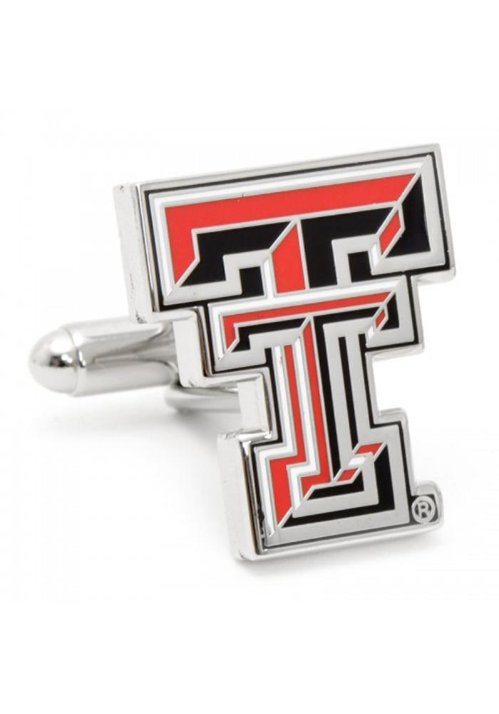 Texas Tech Red Raiders Silver Plated Mens Cufflinks - Image 2