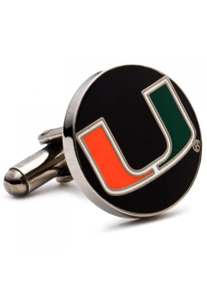 Miami Hurricanes Silver Plated Mens Cufflinks - Image 2