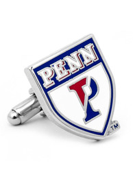 Pennsylvania Quakers Silver Plated Cufflinks - Silver