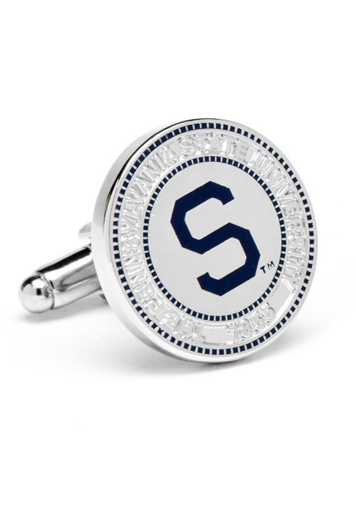 Penn State Nittany Lions Silver Plated Mens Cufflinks - Image 1