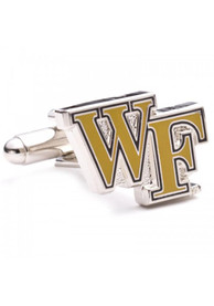 Wake Forest Demon Deacons Silver Plated Cufflinks - Silver