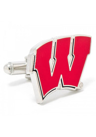 Wisconsin Badgers Silver Plated Cufflinks - Silver