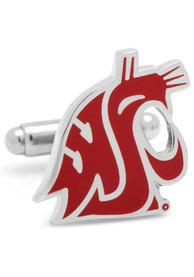 Washington State Cougars Silver Plated Cufflinks - Silver