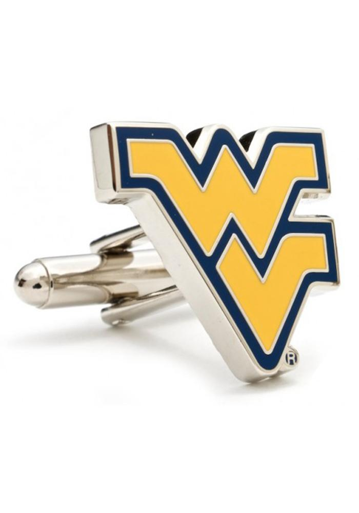 West Virginia Mountaineers Silver Plated Mens Cufflinks - Image 1
