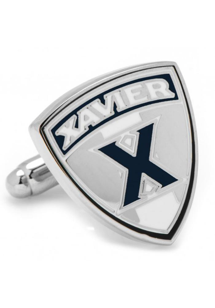 Xavier Musketeers Silver Plated Mens Cufflinks - Image 2