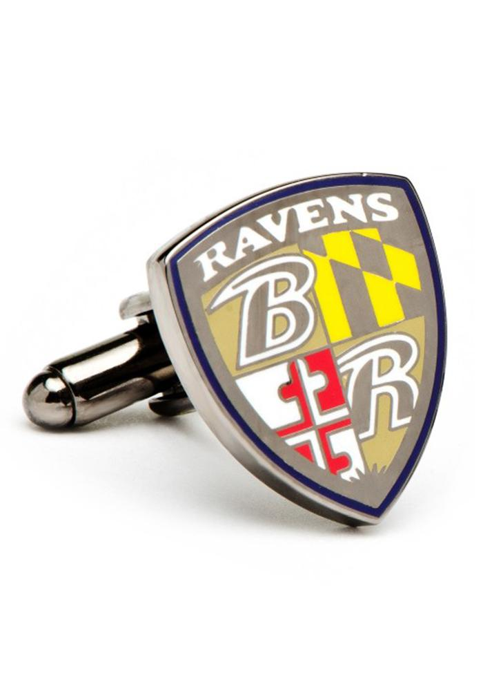 Baltimore Ravens Silver Plated Mens Cufflinks - Image 1